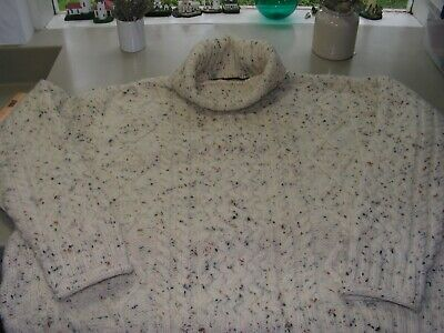 Irish Fisherman's Sweater XL Oatmeal, Heavy