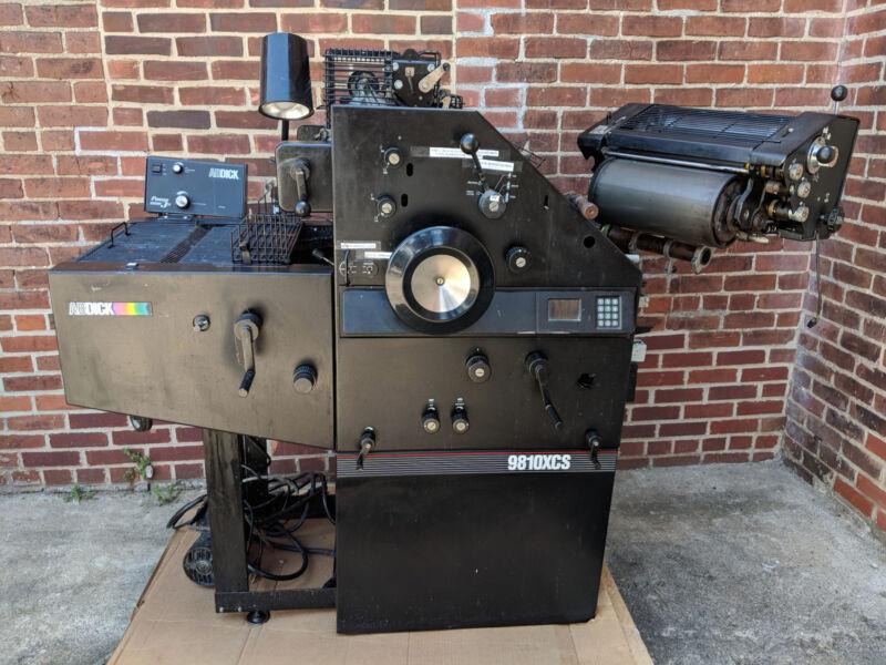 AB DICK 9810XCS Printing Press - Lots of Spare Parts