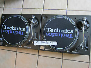 DJ SLIPMATS TECHNICS 1200 BEAUTIFUL SHADOW LOGO, BRAND NEW PAIR, READY TO SHIP