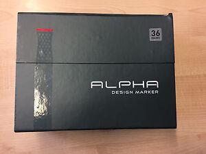 Alpha Twin Design Grafik Marker 36er Set für Blackbook Sketchbook