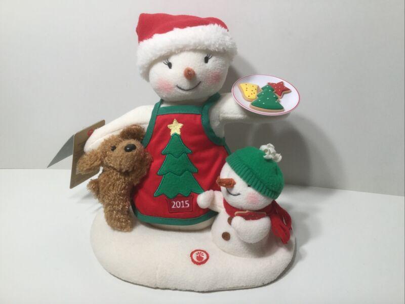 Hallmark Jingle Pals Time For Cookies 2015 Christmas Plush Snowman 12th  Motion