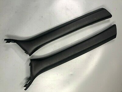 01-06 BMW E46 M3 330CI Convertible Set A Pillar Covers Black  LEFT RIGHT PAIR
