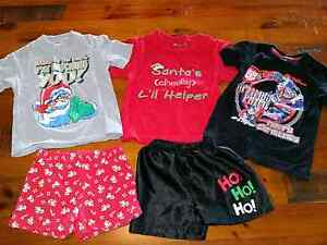 Size 4 Xmas shirts and boxer shorts bundle, great condition! Willowbank Ipswich City Preview