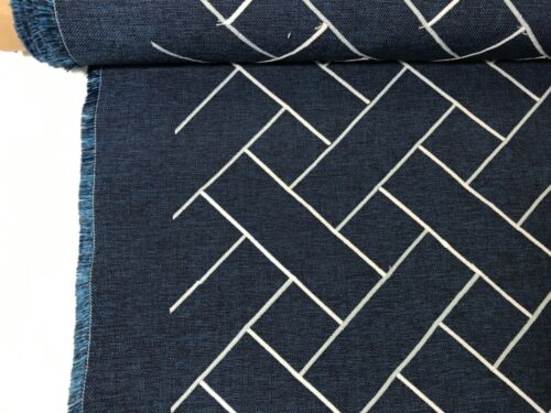 JimThompson N9012247008 Lisboa/ IndigoGraphic Indoor/OutdoorUph.Fabric 16 2/8 yd