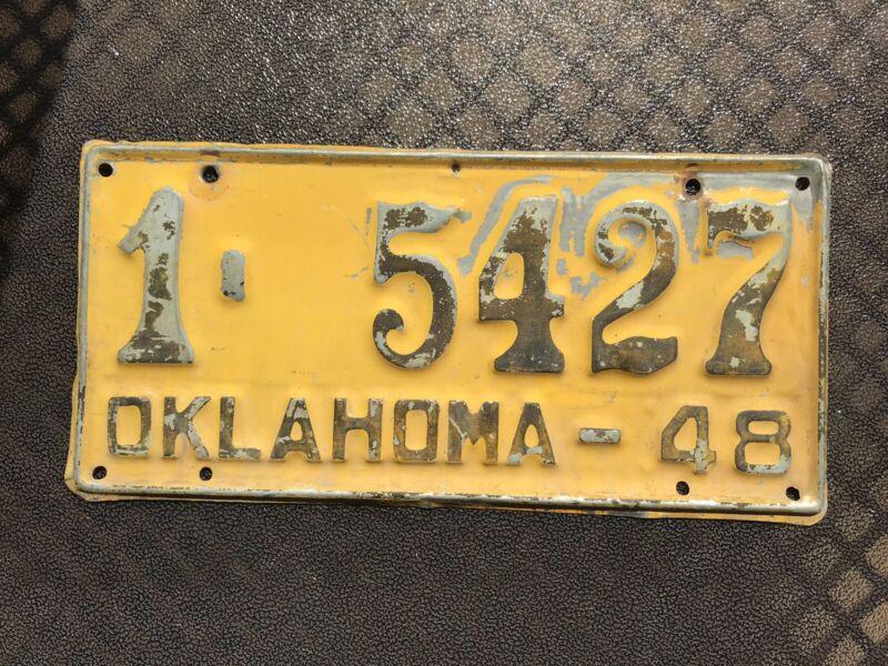 1948 Oklahoma License Plate 1 5427
