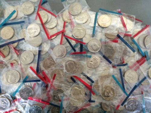 Old Rare UNCIRCULATED US Kennedy Half Dollar Mint Coin Mixed Lot Buy 5 get 1 fre