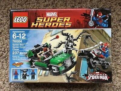 LEGO Marvel Super Heroes Spider-Man Spider-Cycle Chase (76004) New in Box