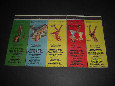 1947  Abney's PURE Gas And Oil Station Matchbook Covers