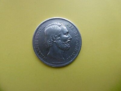 Netherlands 2-1/2 Gulden 1870 silver coin with king Willem III
