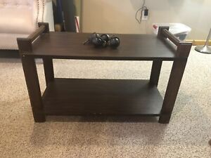 Tv stand bench shelf