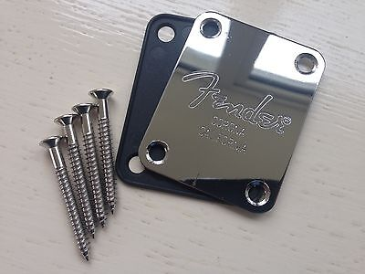 Fender st Corona California stamped Chrome Neck Plate Includes Gasket!