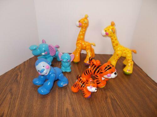 7 Fisher Price Amazing Animals - Some sound - Blue Gorilla-Tiger - Elephant ++