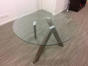 Glass dining table for $250