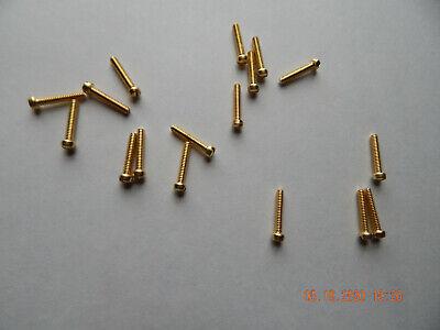 Brass Fillister Head Slotted Machine Screws 632 X 34 15 Pcs. New