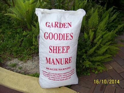 GARDEN GOODIES SHEEP MANURE - 100 LITRES 100% SHEEP MANURE