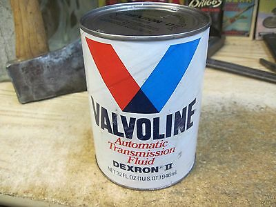 VALVOLINE oil can DEXRON-2 ATF AUTOMATIC TRANSMISSION FLUID original EMPTY MOTOR comprar usado  Enviando para Brazil