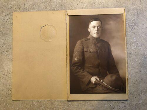 Original WWI US Army Soldier Studio Photo -  E5/SERGEANT