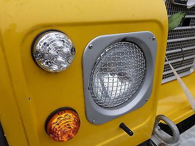 Land Rover Defender 90/110 Stainless Steel Headlamp Stone Guards Protectors Pair