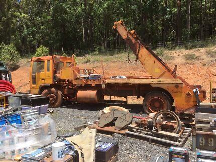 Volvo skip bin truck