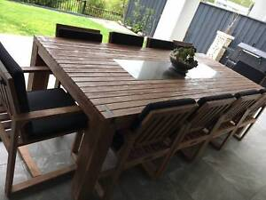 10 Seater Outdoor Dining Table and Chairs