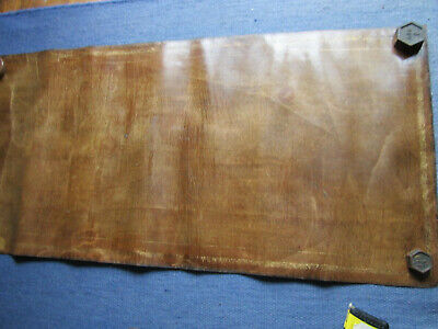 Antique Desk Leather Inlay. Brown. Very Well Aged 22