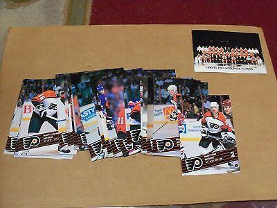 1990-91, Philadelphia Flyers, Postcard Set/Lot, Complete @ 26 Cards, Clean