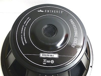 Eminence Sigma Pro 18A 2 18  Speaker 650 Watts 8 Ohm Made In Usa