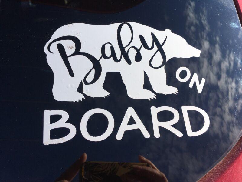 Baby Bear On board Vinyl Decal
