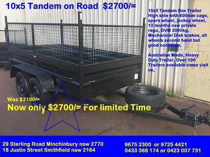 10X5 HI SIDE HEAVY DUTY 600MM CAGE $2700 on special