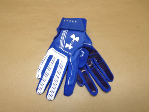 Under Armour Youth Heater Batting Gloves Blue and White Size L
