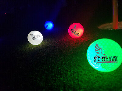Light Up Golf Balls (New Nighthawk LED light up golf balls, Light Activated Stay Lit Glow in the)