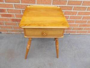 Vintage Retro Timber Bedside Table with drawer Cranbourne East Casey Area Preview