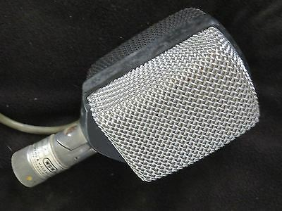 AKG D12 RARE VINTAGE CARDIOID DYNAMIC MICROPHONE W/ATTACHED XLR CABLE+SWIVEL MT!