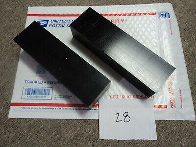 Black Delrin Acetal Sheet Block Cnc Mill 2 Pieces 28