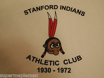 Stanford Indians Athletic Club Tshirt 100  Cotton Large