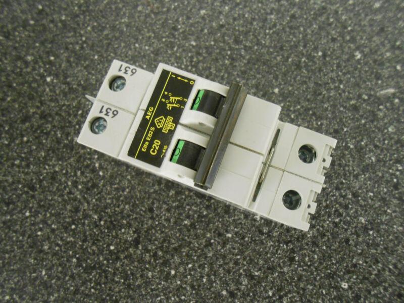 AEG ELFA E82S C20 2 POLE 20 AMP 415VAC CIRCUIT BREAKER