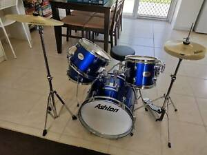 COMPLETE ASHTON DRUM KIT - JUNIOR - SUIT PLAYER UP TO 14 YEARS OLD
