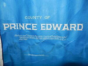 Vintage Map of Prince Edward County