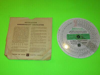 Vintage Bethlehem Steel Hardenability Computer