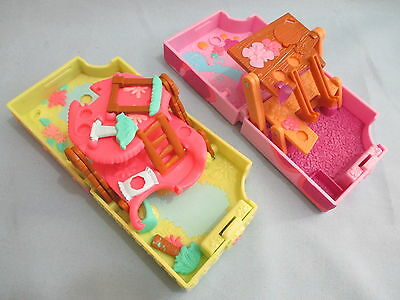 Littlest Pet Shop Lot of 2 Teeniest Tiniest Mini Playset  Accessories
