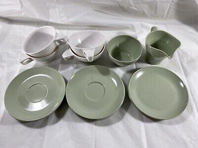 Vintage Boontonware Cups Saucers Plates Cream Sugar Melamine Melmac Boonton x17