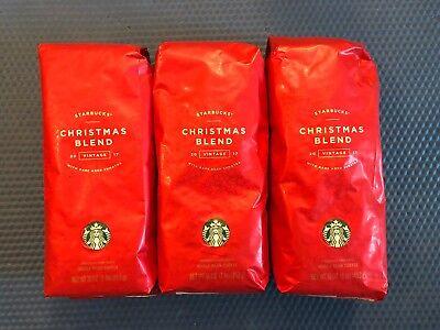 Starbucks Christmas Intermingle 2017 Rare Aged Sumatra 1lb WHOLE BEAN x 3 bags