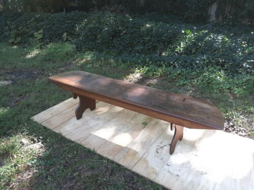 Primitive Pine Antique Bucket Bench