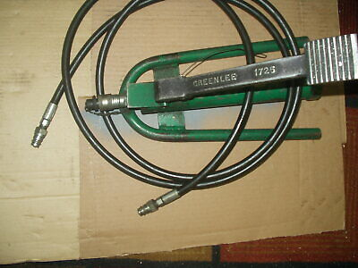 Greenlee 1725 Hydraulic Foot Pump 6500-psi. Working Tool W Hydraulic Ext. Hose
