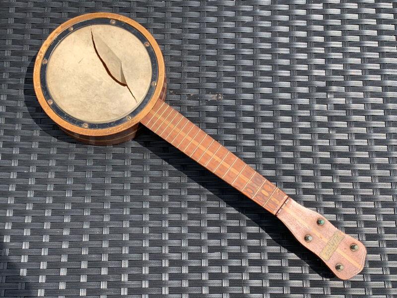 Antique Winner Banjolele Musical Instrument with F Holes