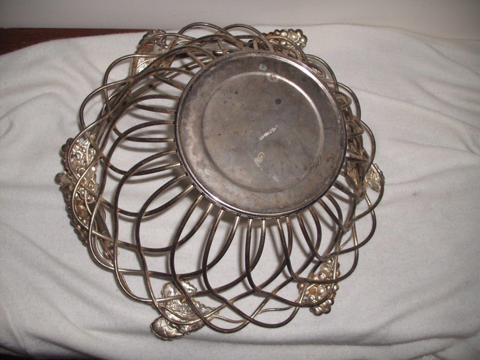 Godinger Silver Art Co Basket : Vintage godinger silver art company grape fruit basket w