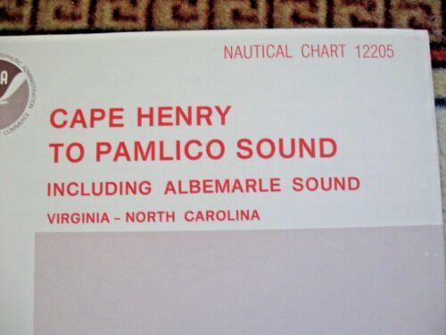NAUTICAL NAVIGATIONAL CHART #12205 - CAPE HENRY TO PAMLICO SOUND VA NC