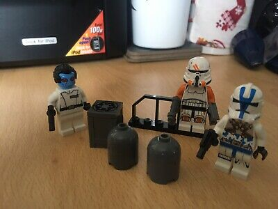 Star Wars Lego Admiral Thrawn, Airborne  Trooper 501st Figures Lot 18