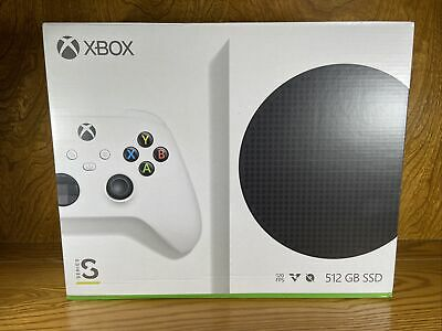 NEW IN HAND MICROSOFT XBOX SERIES S 512GB VIDEO GAME CONSOLE & CONTROLLER SEALED