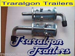 2x spring loaded tailgate tail gate latches fastener lock suit trailer UTE  M18